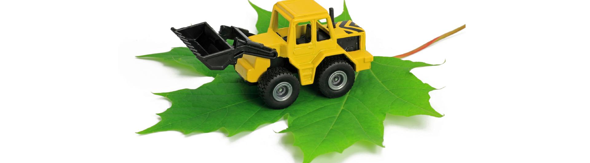Umweltfreundliche Baumaschinen